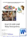 HACCP GHP GMP Sklep Monopolowy