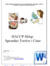 HACCP Sklep Sprzedaż Tortów i Ciast